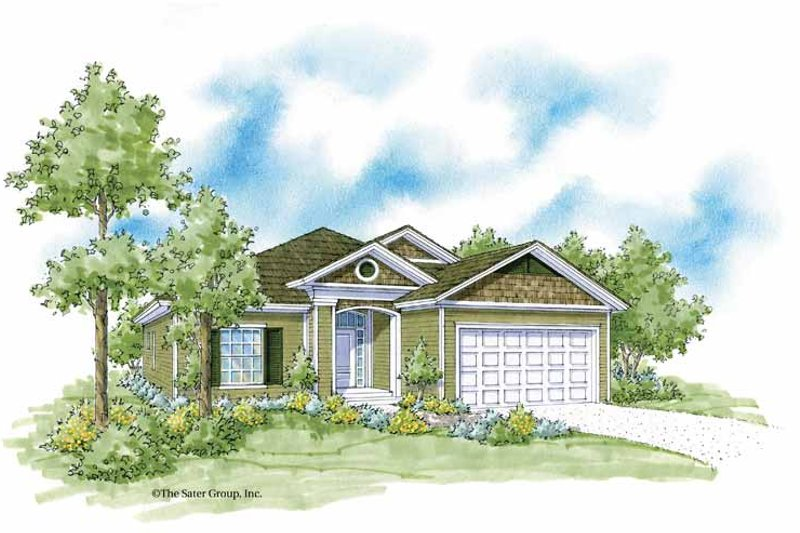 Country Exterior - Front Elevation Plan #930-369