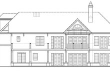 Craftsman Exterior - Rear Elevation Plan #119-425