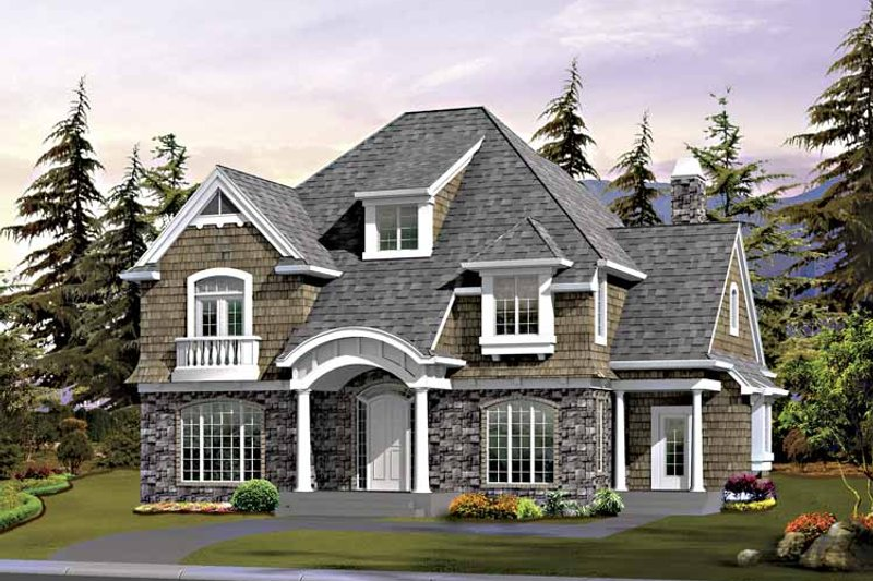 Craftsman Exterior - Front Elevation Plan #132-411