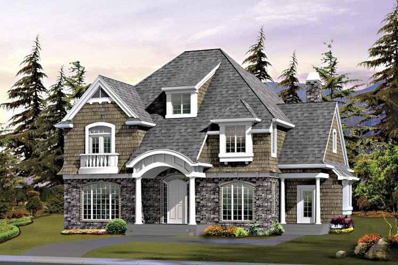 Craftsman Exterior - Front Elevation Plan #132-411