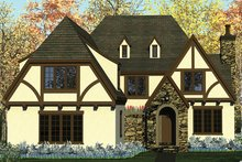 European Exterior - Front Elevation Plan #453-637