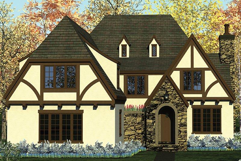 Architectural House Design - European Exterior - Front Elevation Plan #453-637