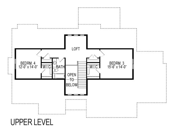 Craftsman Floor Plan - Upper Floor Plan Plan #920-7