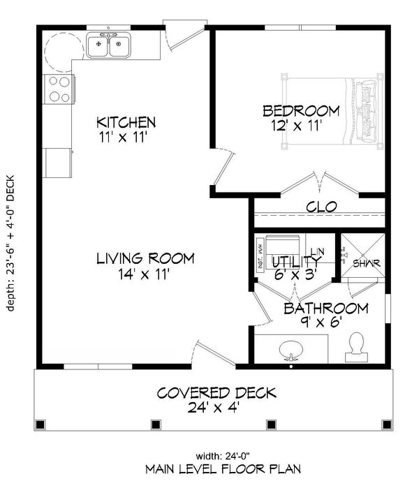 Traditional Floor Plan - Main Floor Plan Plan #932-101