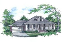 Dream House Plan - Mediterranean Exterior - Front Elevation Plan #14-111