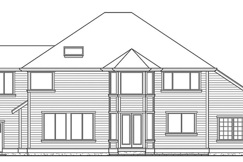 Craftsman Exterior - Rear Elevation Plan #132-412 - Houseplans.com