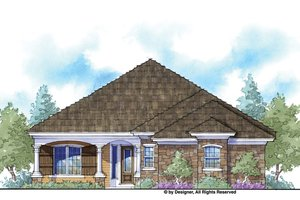 Country Exterior - Front Elevation Plan #938-66