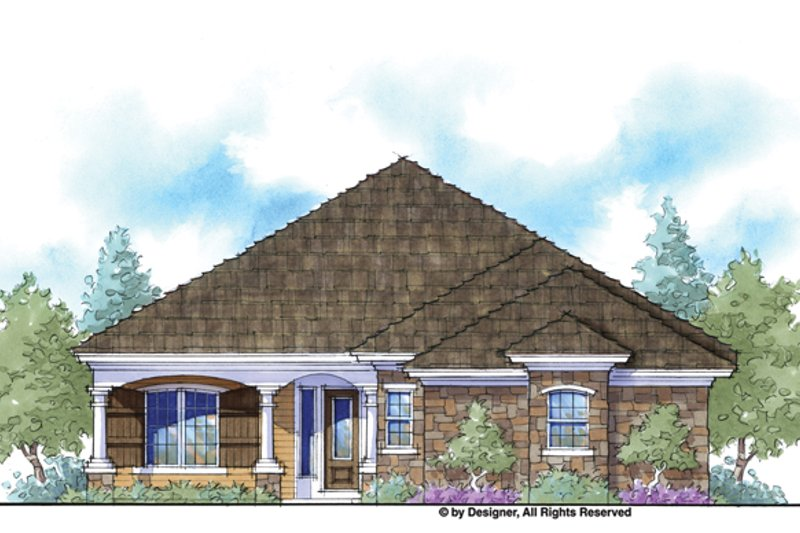 Home Plan - Country Exterior - Front Elevation Plan #938-66
