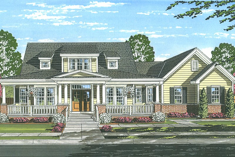 Traditional Exterior - Front Elevation Plan #46-852 - Houseplans.com