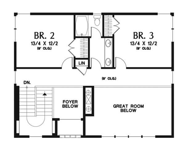 Prairie Floor Plan - Upper Floor Plan Plan #48-922
