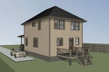 Dream House Plan - Southern Exterior - Rear Elevation Plan #79-198