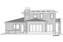 House Plan Design - B/W left side elevation