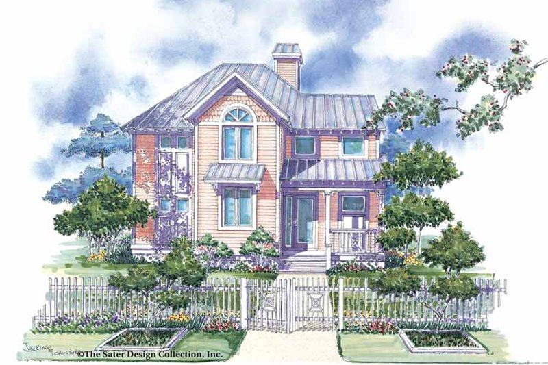 Victorian Exterior - Front Elevation Plan #930-66