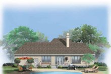 Architectural House Design - Ranch Exterior - Rear Elevation Plan #929-631