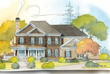 House Plan Design - Colonial Exterior - Front Elevation Plan #429-408
