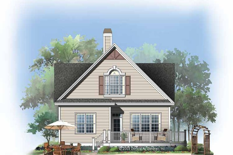 Country Exterior - Rear Elevation Plan #929-762 - Houseplans.com