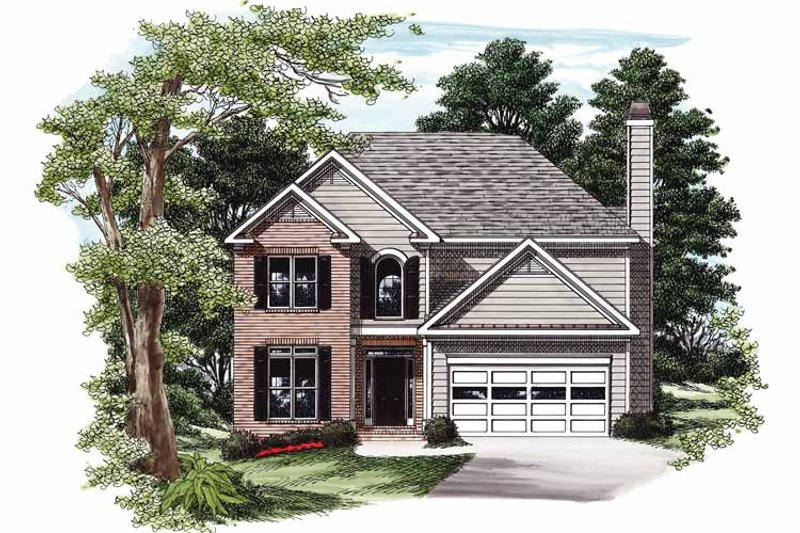 Colonial Exterior - Front Elevation Plan #927-389