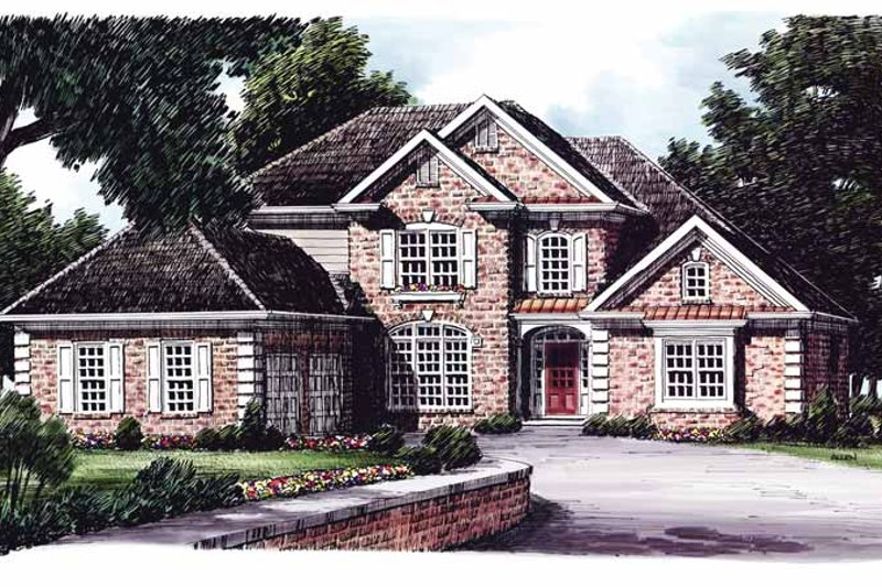 Traditional Exterior - Front Elevation Plan #927-792 - Houseplans.com