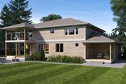 Contemporary Style House Plan - 4 Beds 3.5 Baths 3126 Sq/Ft Plan #1066-80 Exterior - Rear Elevation
