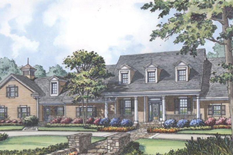 Colonial Exterior - Front Elevation Plan #417-812 - Houseplans.com