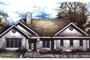 Exterior - Front Elevation Plan #320-358