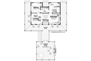 Log Style House Plan - 2 Beds 2 Baths 1338 Sq/Ft Plan #928-281 Floor Plan - Main Floor Plan
