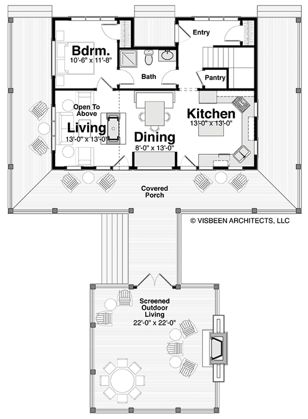 Home Plan - Log Floor Plan - Main Floor Plan #928-281