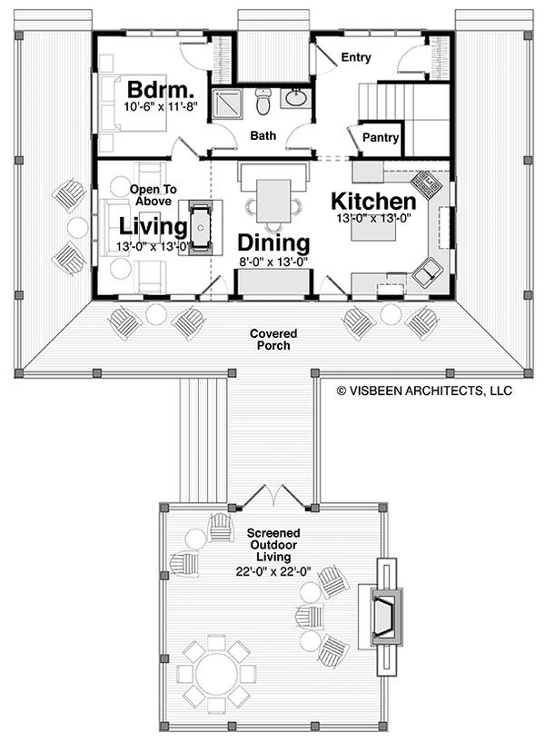 House Plan Design - Log Floor Plan - Main Floor Plan #928-281