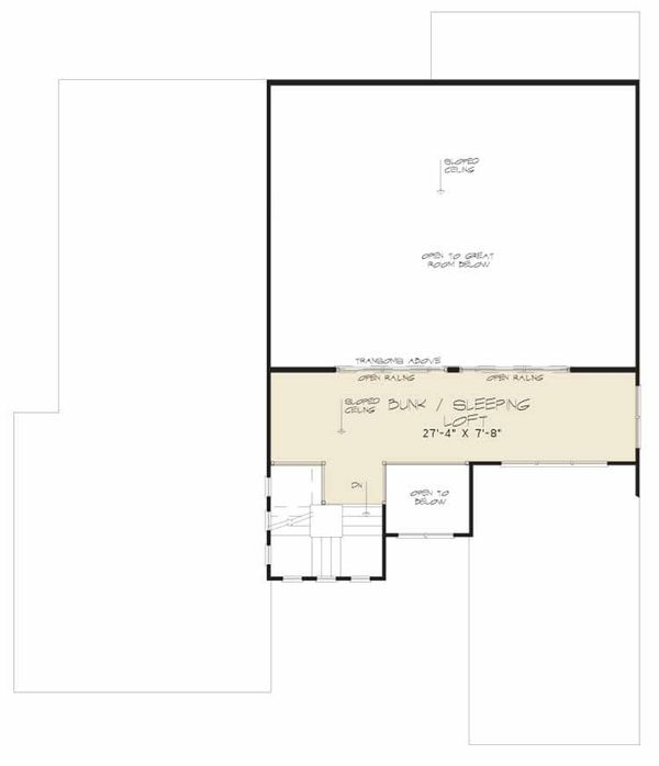 Modern Floor Plan - Upper Floor Plan Plan #17-2602