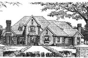 European Style House Plan - 4 Beds 3.5 Baths 3690 Sq/Ft Plan #310-639 Exterior - Front Elevation