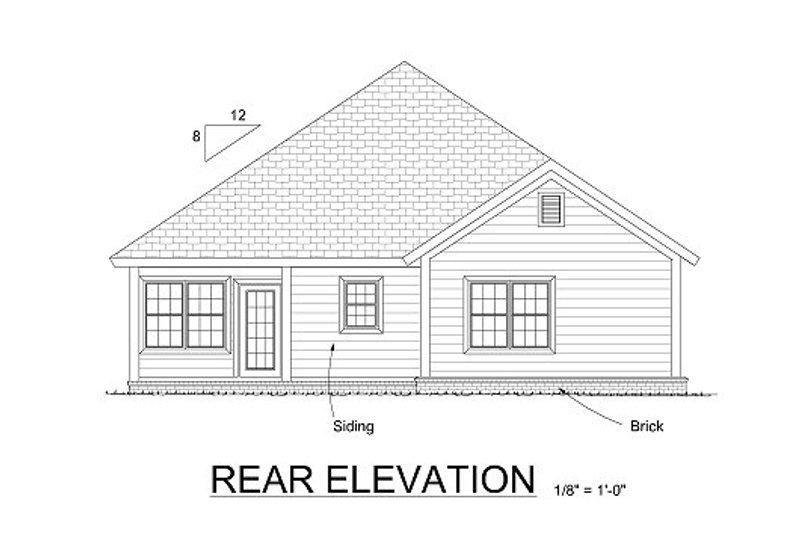 Traditional Exterior - Rear Elevation Plan #513-14 - Houseplans.com