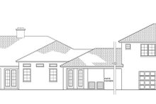 Mediterranean Exterior - Rear Elevation Plan #1058-81