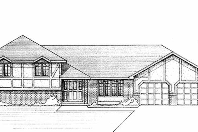 Tudor Exterior - Front Elevation Plan #51-810