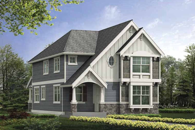 Craftsman Exterior - Front Elevation Plan #132-386