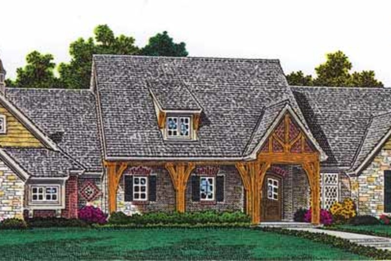Craftsman Exterior - Front Elevation Plan #310-1253