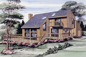 Dream House Plan - Contemporary Exterior - Front Elevation Plan #314-212