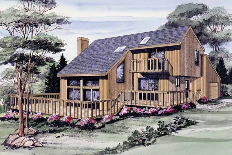 Home Plan - Contemporary Exterior - Front Elevation Plan #314-212