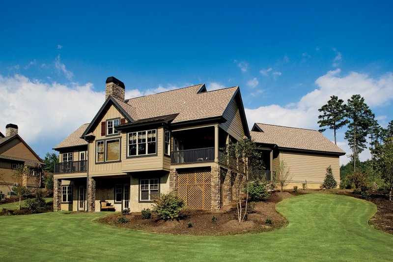 European Exterior - Rear Elevation Plan #929-891 - Houseplans.com