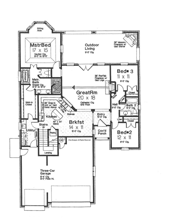Home Plan - European Floor Plan - Main Floor Plan #310-1265