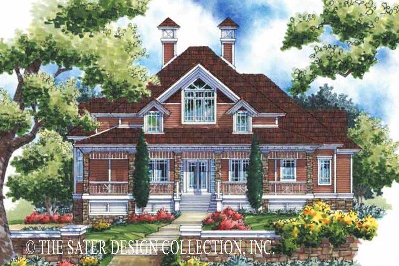 Architectural House Design - Victorian Exterior - Front Elevation Plan #930-171