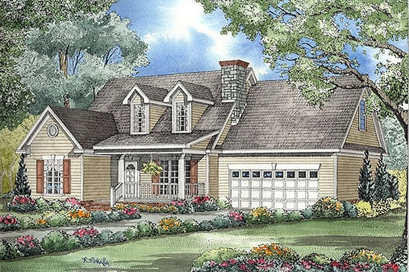 Dream House Plan - Country Exterior - Front Elevation Plan #17-561