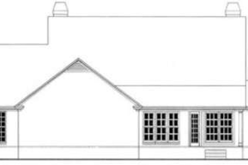 Southern Exterior - Rear Elevation Plan #406-192 - Houseplans.com