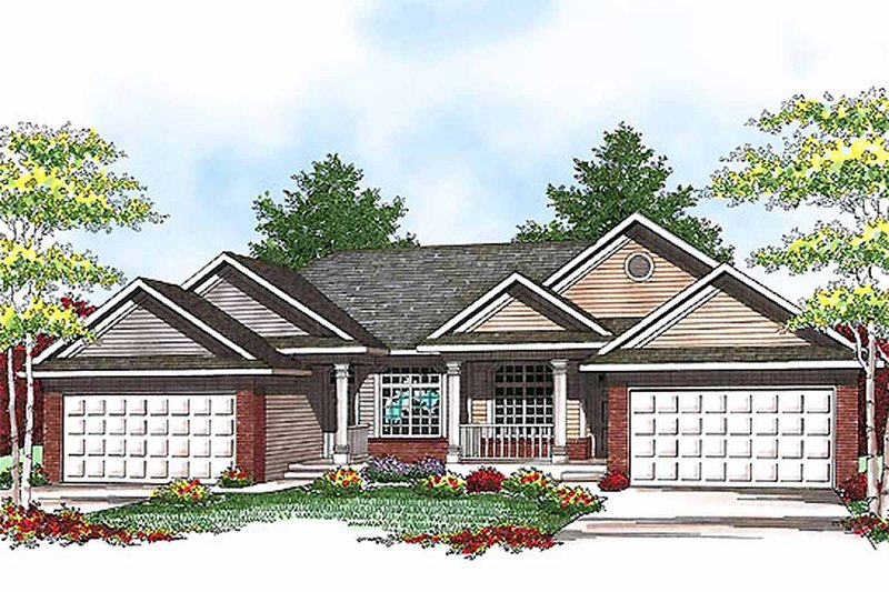 Dream House Plan - Traditional Exterior - Front Elevation Plan #70-942