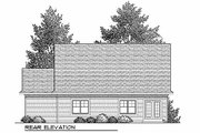 Craftsman Style House Plan - 2 Beds 2 Baths 1393 Sq/Ft Plan #70-899 Exterior - Rear Elevation