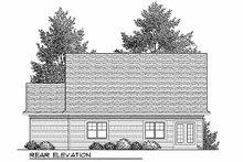 Craftsman Exterior - Rear Elevation Plan #70-899