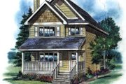 Cottage Style House Plan - 3 Beds 3 Baths 1244 Sq/Ft Plan #18-292 Exterior - Front Elevation