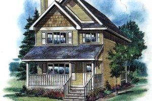 Cottage Exterior - Front Elevation Plan #18-292