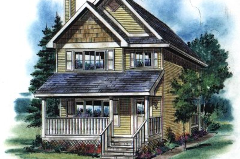 Cottage Style House Plan - 3 Beds 3 Baths 1244 Sq/Ft Plan #18-292