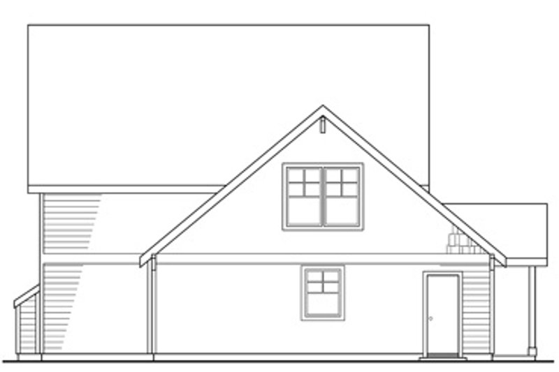 Craftsman Exterior - Rear Elevation Plan #124-204 - Houseplans.com