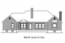 House Design - Traditional Exterior - Rear Elevation Plan #22-131